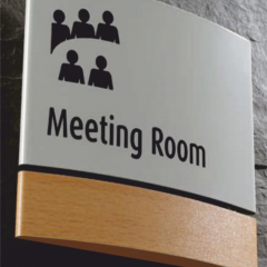 Profile-Formed Signs, Meeting Room